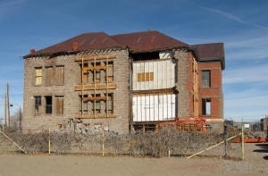 Preservation work done on the Goldfield High school in late 2010