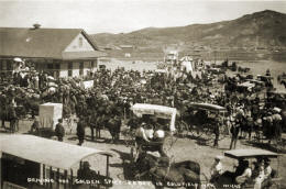 The Goldfield Railroad Station at the driving of the golden spike ceremony, September 14. 1905.